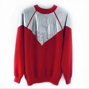 Vintage Hanes Red/Silver Crewneck Sweatshirt Sz L